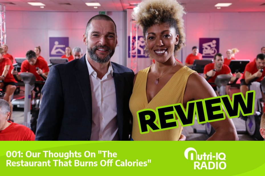 Presenters of the recent BBC2 show the restaurant that burns off calories.