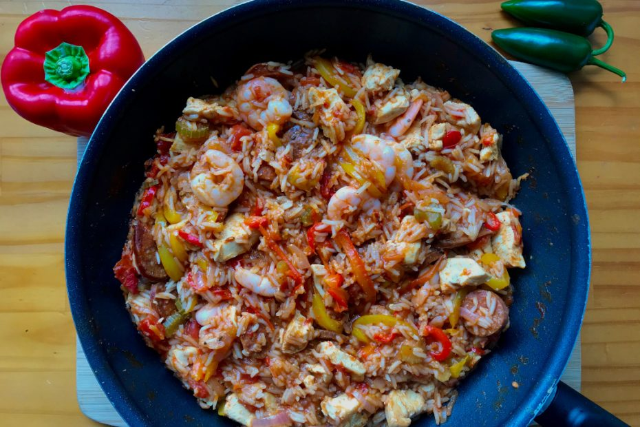 Chicken, Chorizo & Prawn Jambalaya
