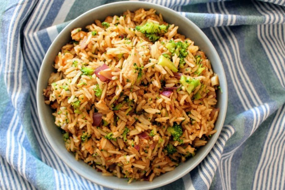 Chicken Fried Rice with Broccoli & Soy Sauce