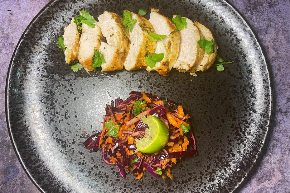 Chicken and Indian Coleslaw
